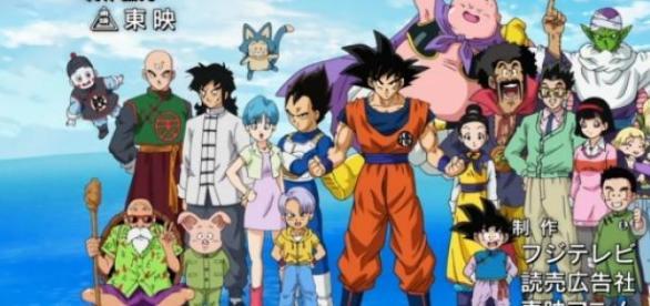 Captura del opening de Dragon Ball Super
