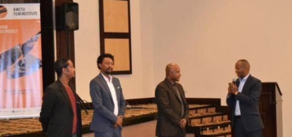 Eric Kabera interviewing Ethiopian filmmakers