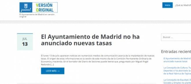 El Ayuntamiento de Madrid en versión original