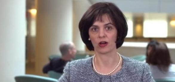 Captură video cu Lidia Velculescu, sursa FMI