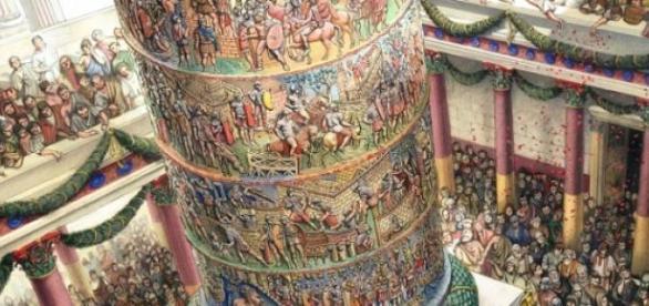 Columna lui Traian, viu colorată