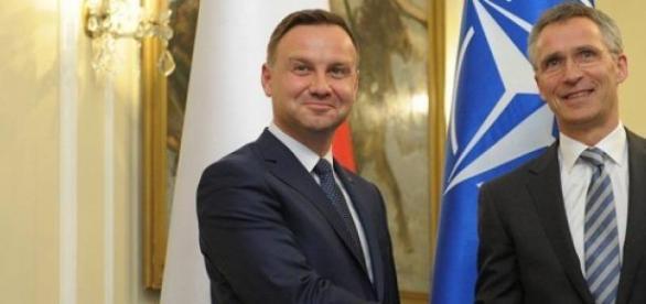 Andrzej Duda i Jens Stoltenberg.