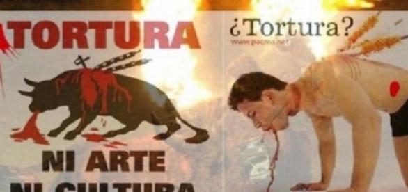 Cartel contra la crueldad de las corridas de toros