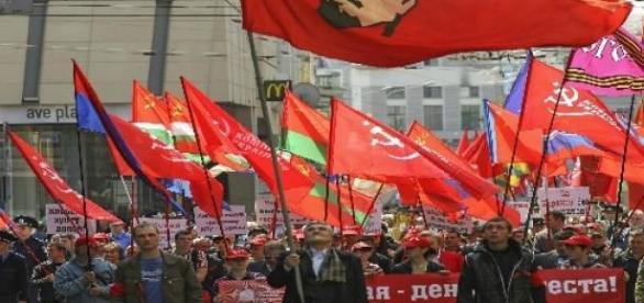 Partidários comunistas na Ucrânia / Reprodução