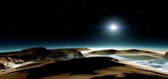 Ilustração de planeta descoberto pela NASA