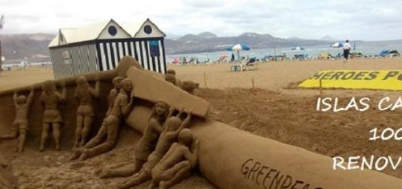 Proyecto 'Paradise' en Canarias. Foto Greenpeace