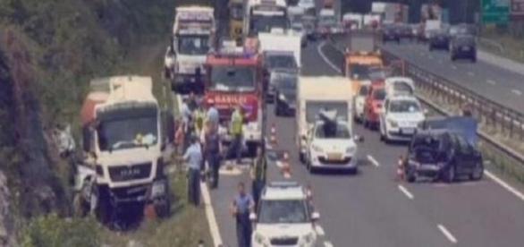 Locul teribilului accident din Slovenia
