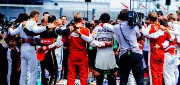 Los pilotos rindieron homenaje a Jules Bianchi