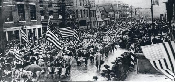 un groupe de féministes au XIXe siècle