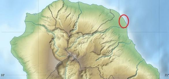 Zona en Reunión donde han aparecido los restos