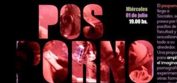 Afiche de la muestra Pos Porno