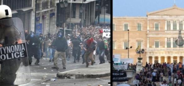 Crise grega divide o país e a Europa.