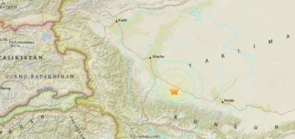 Epicentro del terremoto de 6'4 en China