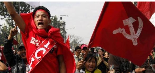 Maoist Protesters in Kathmandu