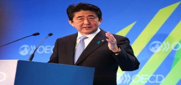 o premiê japonês Shinzo Abe / Reprodução OECD