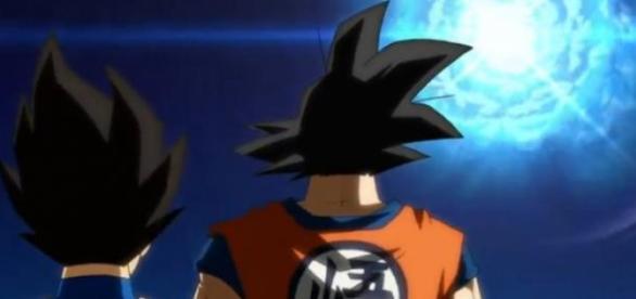 Goku y Vegeta en el opening