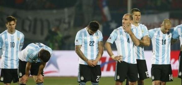 La desazón de los jugadores argentinos