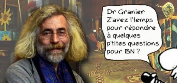 Photomontage illustrant l'interview du Dr Granier.