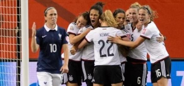 Joie de l'Allemagne après sa victoire aux TAB