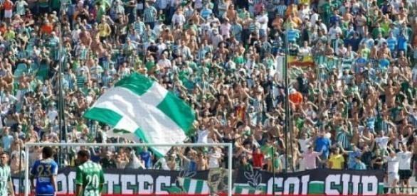 La afición del Betis durante un partido