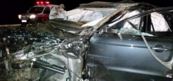 Range Rover Sport em que morreu Cristiano Araújo