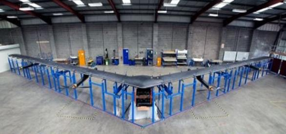 Aquila, the first life-size Facebook drone
