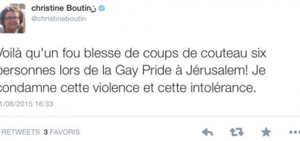 Le tweet de Christine Boutin est très surprenant.