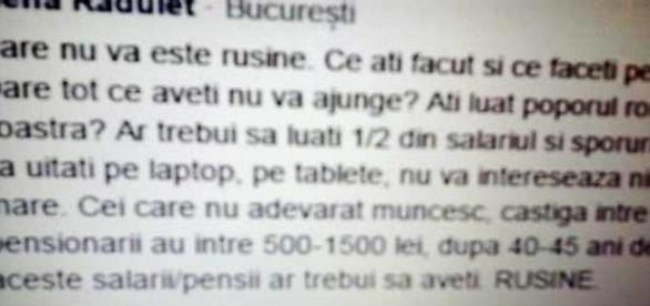 Reacții virulente ale românilor
