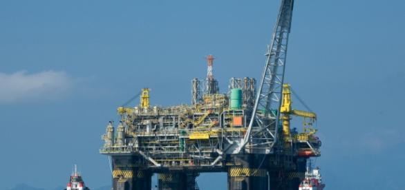 Base petrolera de la compañia Petrobras