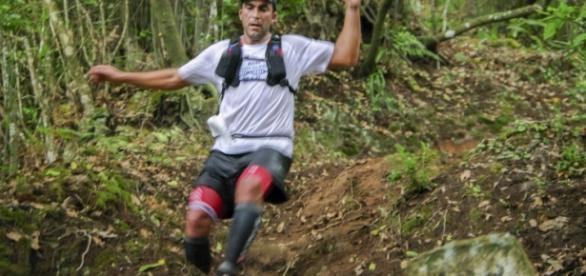 Corredor participante do Trail do Porto da Cruz