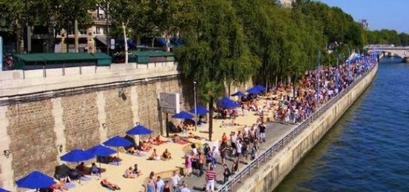 Paris - Plage , la Seine, Le marais