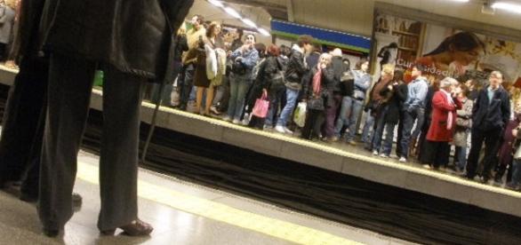 Una estación de Metro de Madrid (Foto del Autor).