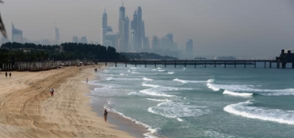 Incidente aconteceu nas praias do Dubai.