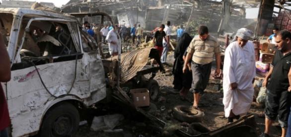 Ataque con un camión bomba en el mercado de Bagdad
