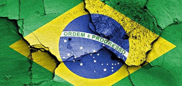 Ilustração de crise política e econômica no Brasil