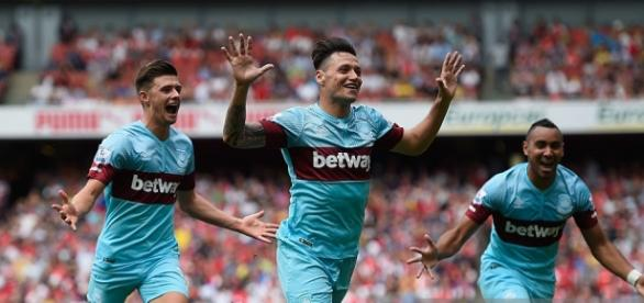 Mauro Zarate scored for West Ham