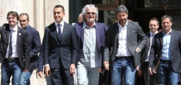 Beppe Grillo e i ragazzi del M5S