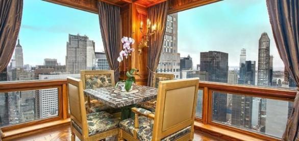 Vista do apartamento do jogador