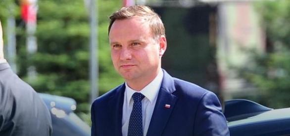 Andrzej Duda podczas obchodów 15 sierpnia.