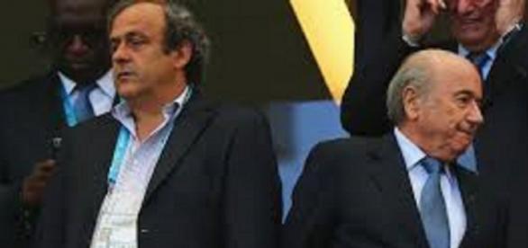 Michel Platini i Sepp Blatter - fusion.net