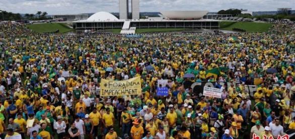 As manifestações bloquearam o Palácio do Planalto
