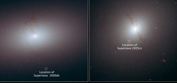 Supernova arrojada fuera de la Vía Láctea