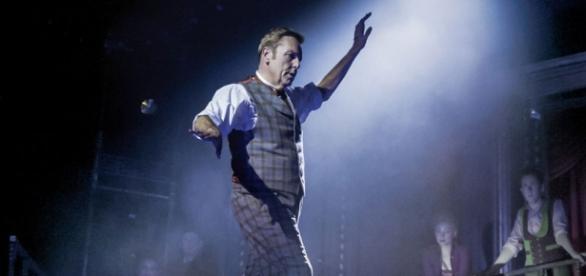 Conley as the show stopping impresario P.T. Barnum