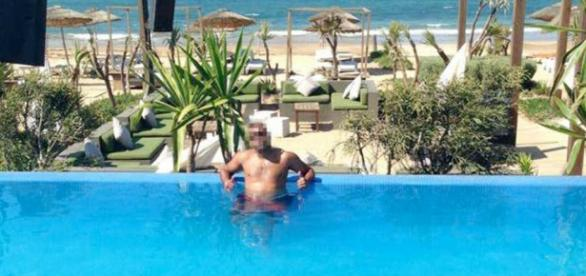 Prófugo en piscina de Marruecos