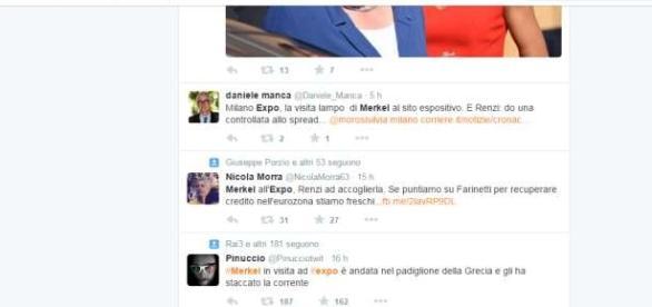 Twitter e l'ironia sulla visita di Merkel a Expo