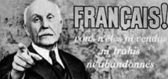 Cartel propagandístico de la Francia de Vichy.