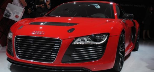 Coche Audi en la feria IAA en Frankfurt