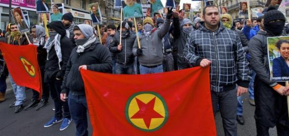 Demonstraţie PKK - Partidul Munc. din Kurdistan