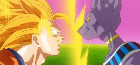"""Goku y Bills en """"La Batalla de los Dioses"""""""