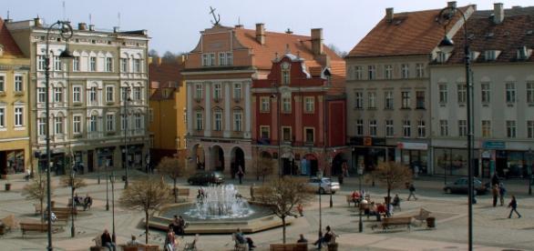 Praça em Walbrzych, Polônia. Distrito da lenda.